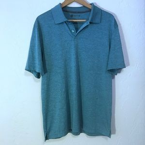 Haggar Mens Golf Polo Medium Teal short sleeve
